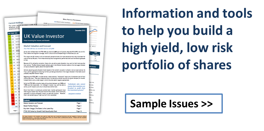Information and tools to help you build a high yield portfolio of shares - Sample issues