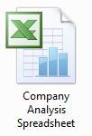Company analysis spreadsheet