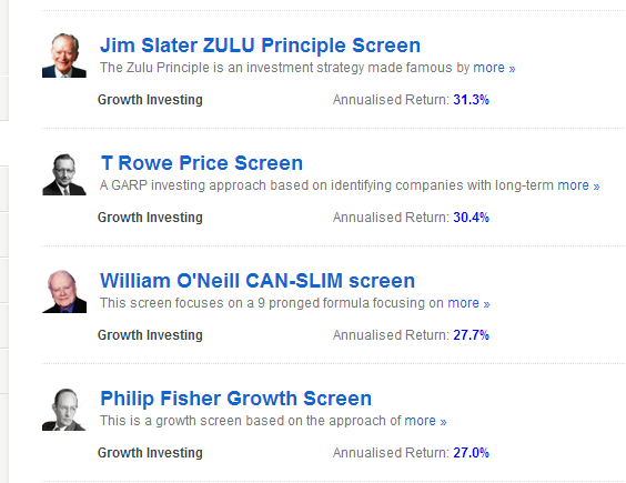 Stockopedia screens