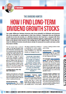 Dividend growth stocks - Cover