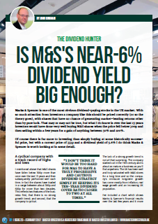 Marks and Spencer Dividend Review - 2017 02