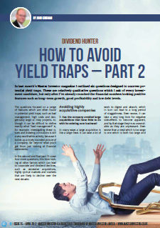 Some more questions to help you avoid yield traps
