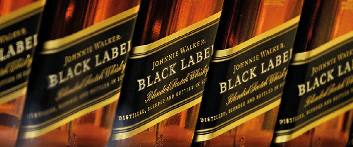 Diageo Johnny Walker labels