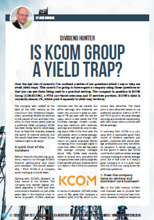 is KCOM Group a yield trap 2017 05