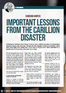Important lessons from the collapse of Carillion's share ...