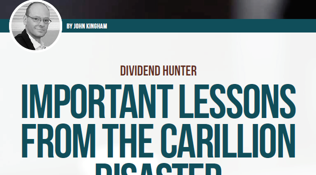 Important lessons from the collapse of Carillion's share price
