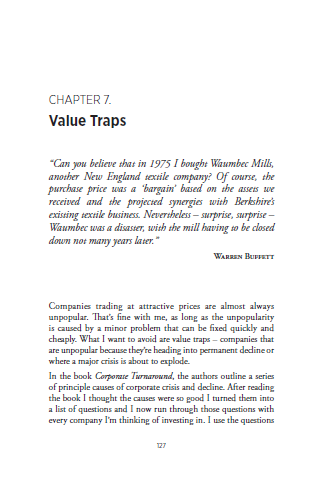 Value Trap Chapter