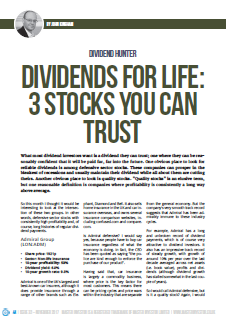 Trustworthy dividend stocks - cover