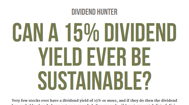 Is Connect Group's 15% dividend yield sustainable?