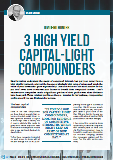 High yield capital light compounders - cover