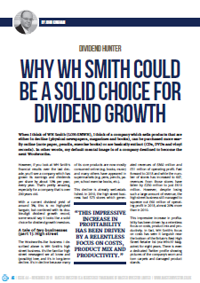 WH Smith dividend growth - cover small