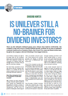 Unilever dividend growth