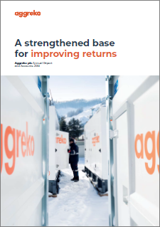 Aggreko 2018 annual report cover