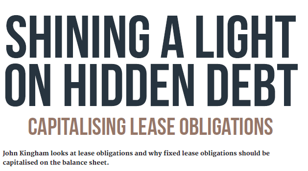 Hidden debt of lease obligations