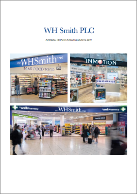 WH Smith 2019 annual report cover